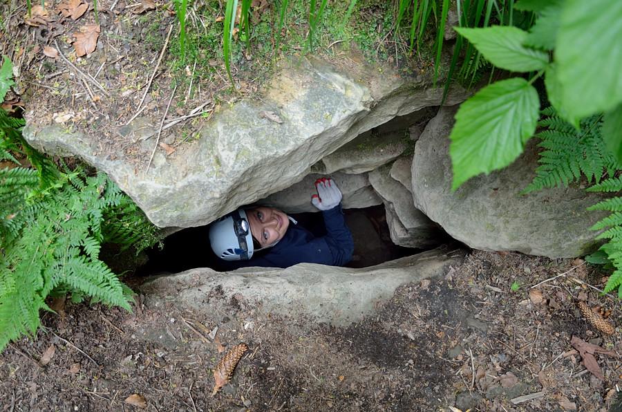 Otwór wejściowy do Jaskini Salmopolskiej