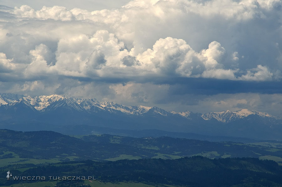 Lubań, widok na Tatry Wysokie i Zachodnie