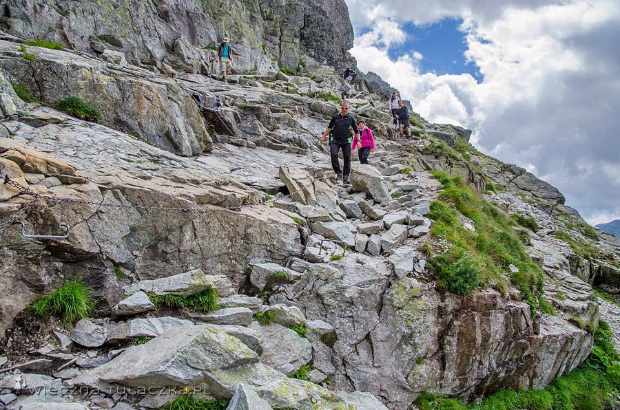 Szlak na Rysy, próg ponad Żabią Doliną Mięguszowiecką