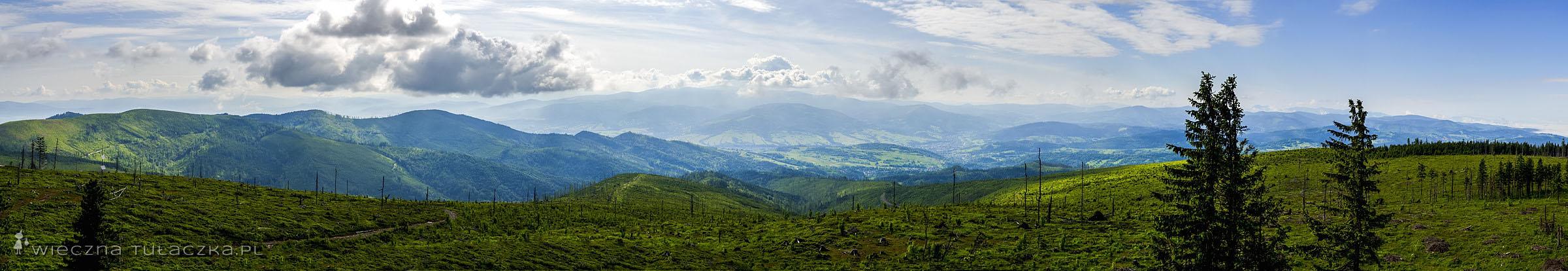Panorama z Baraniej Góry
