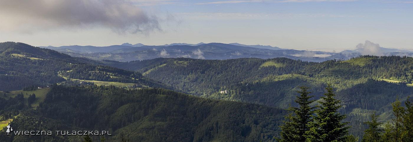 Panorama z Czupla na południe