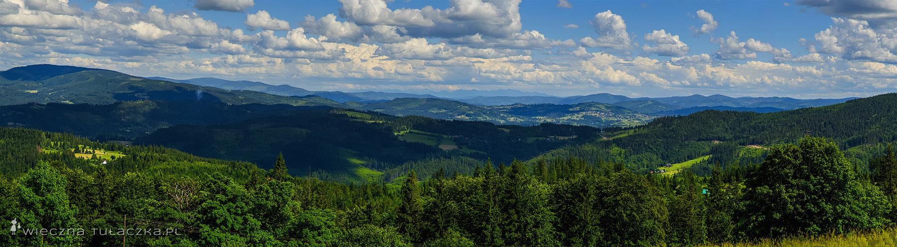 Cieślar - panorama na południowy-wschód