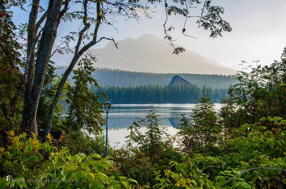 Szczyrbskie Jezioro, widok na Kończystą
