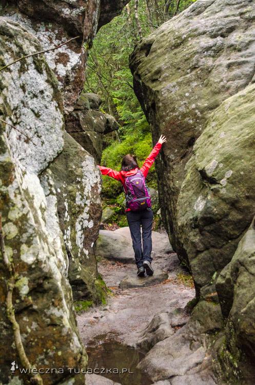 Skałki przy przełęczy pomiędzy Małym a Wielkim Szczelińcem