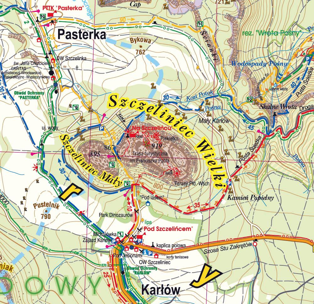 Stosowny fragment mapy Wyd. Galileos