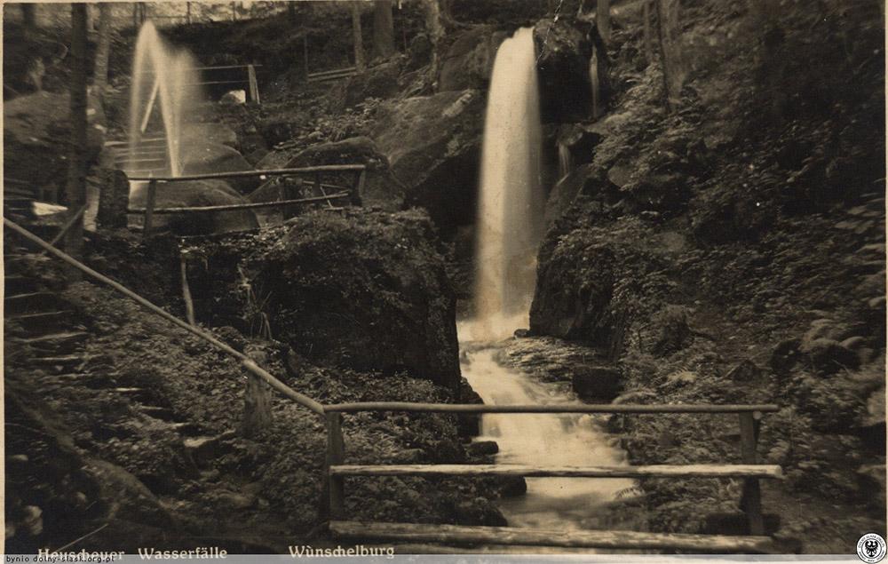 Tak kiedyś prezentowały się wodospady źródło: www.dolny-slask.org.pl