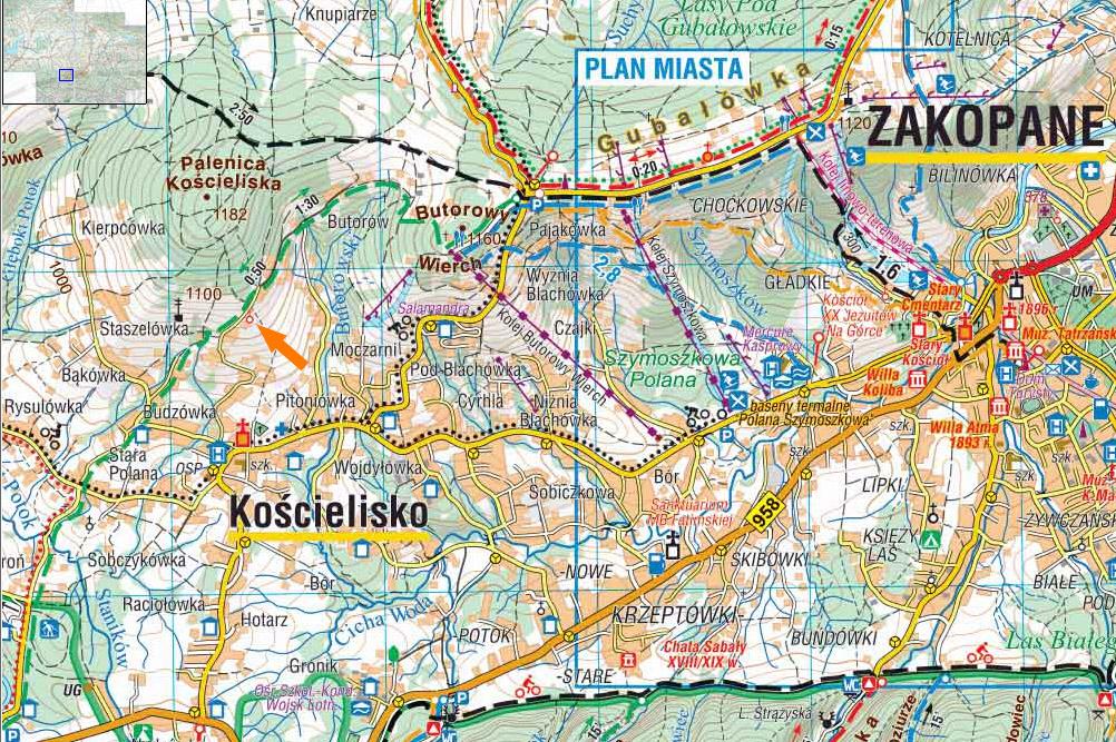 Mapa Podhale