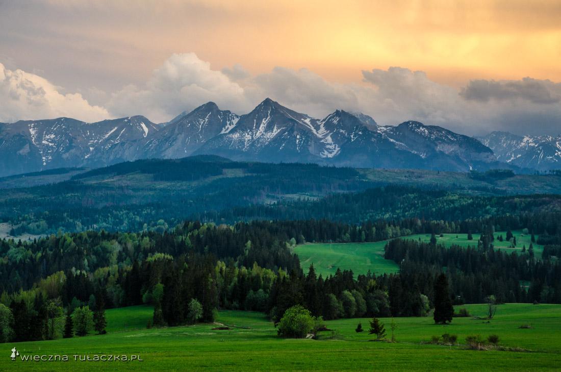 Tatry z Przełęczy nad Łapszanką