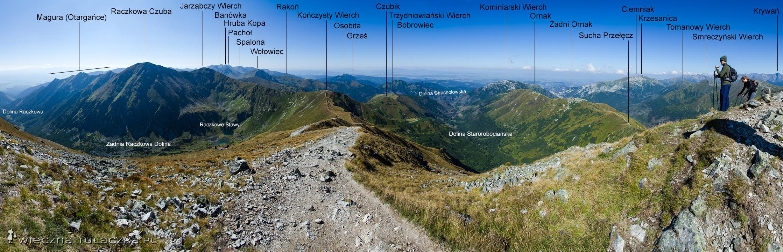 Panorama ze Starorobociańskiego Wierchu