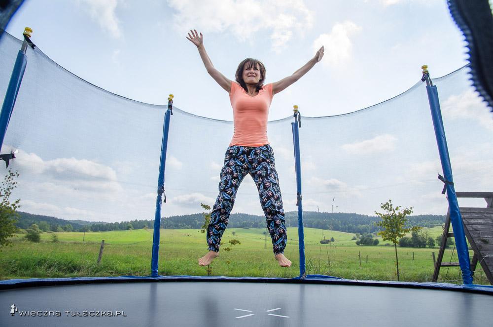 Nie tylko dzieciaki szalały na trampolinie