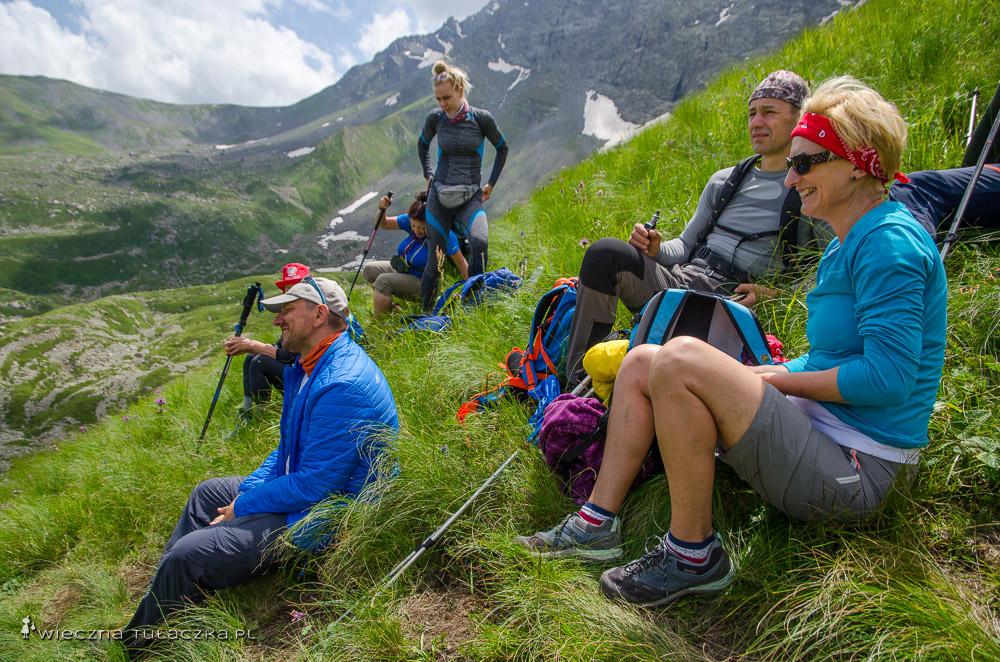 Podejście na Przełęcz Chaukhi