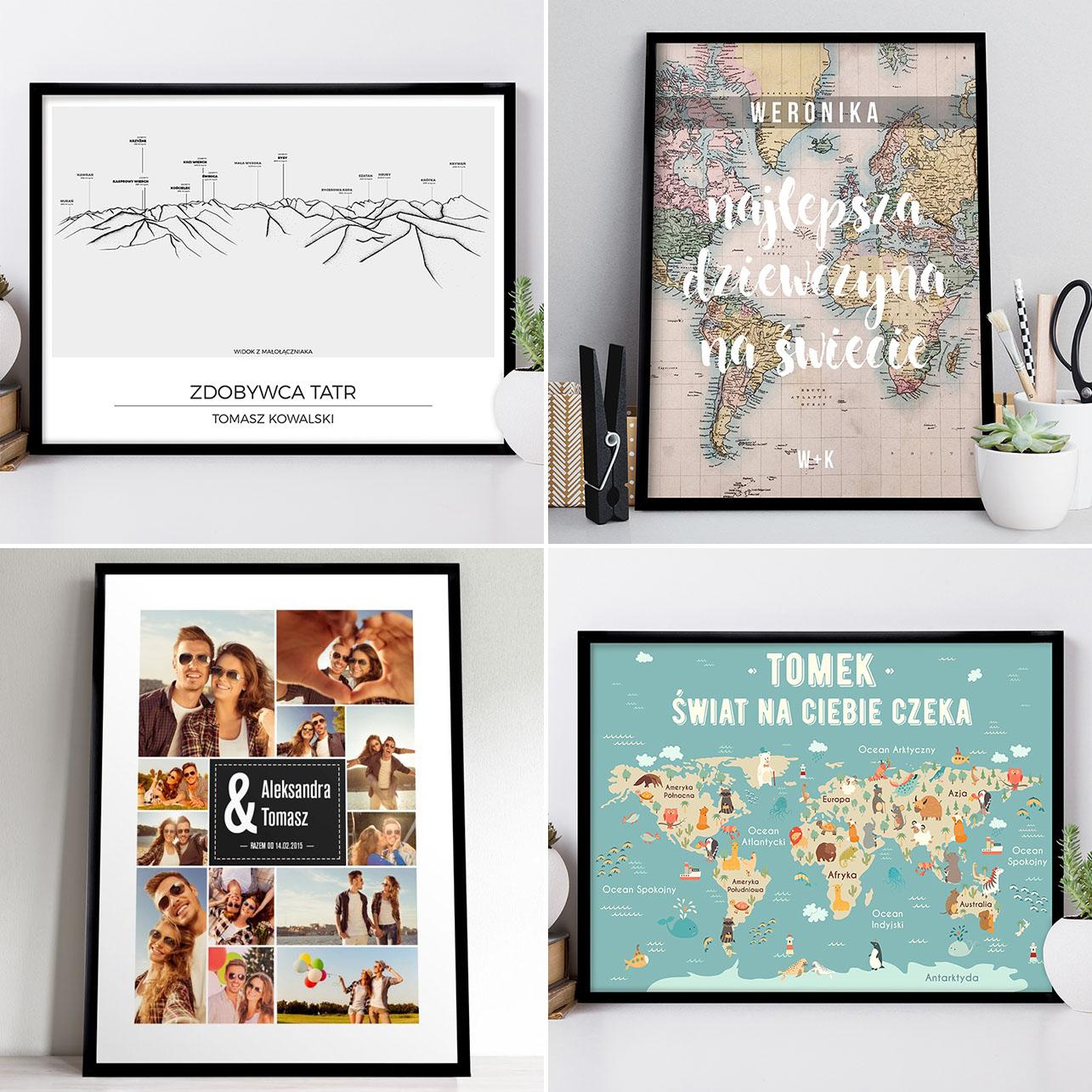 Plakaty personalizowane dla podróżników