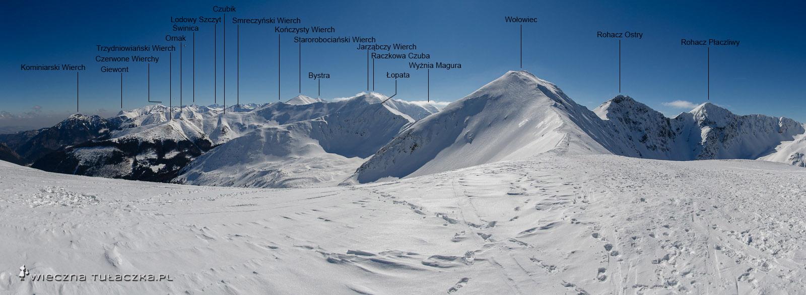 Panorama z Rakonia z podpisami