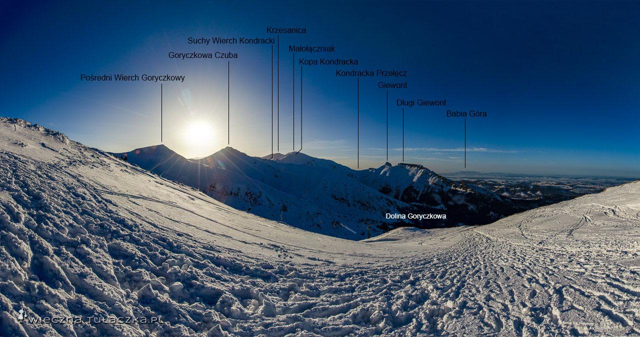 Zimowa trasa na Kasprowy Wierch
