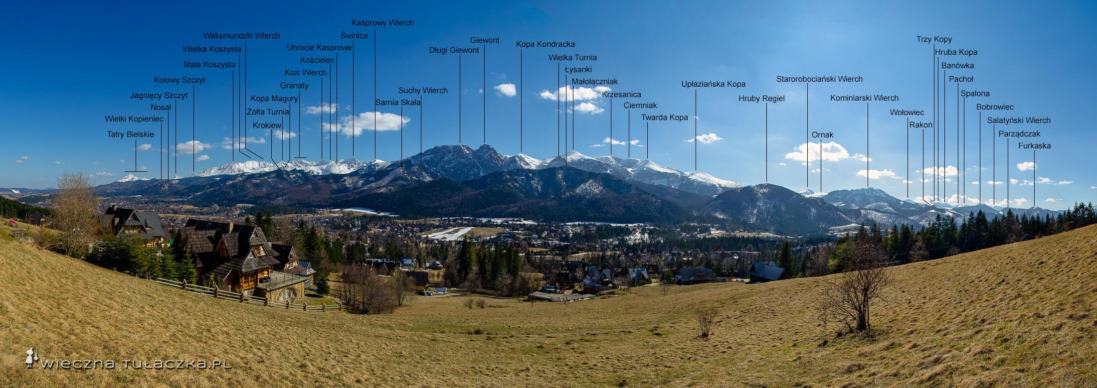 Opisana panorama z Blachówki