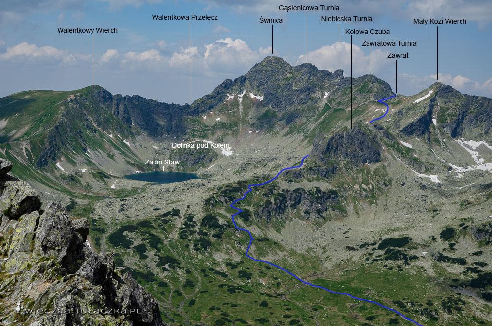 Szlak na Zawrat z Doliny Pięciu Stawów