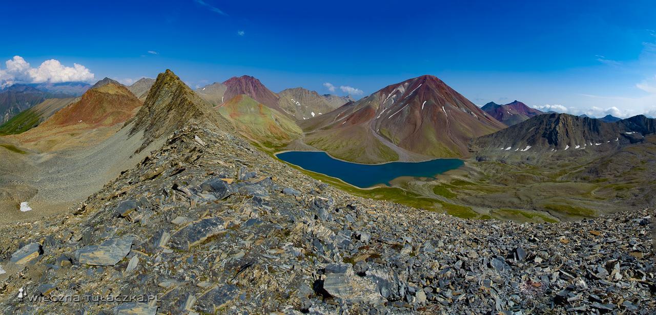 Jezioro Kelitsadi, widok z przełęczy Esikomi