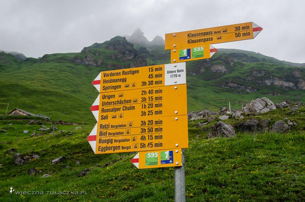 Oznakowanie Via Alpiny