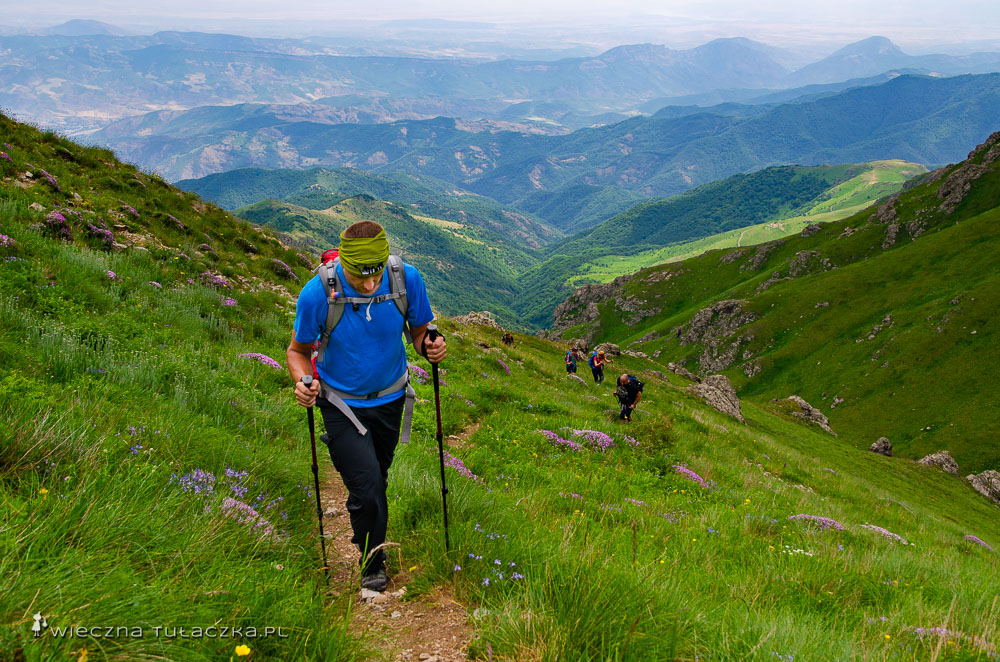 OPis szlaku na Khustup w Armenii