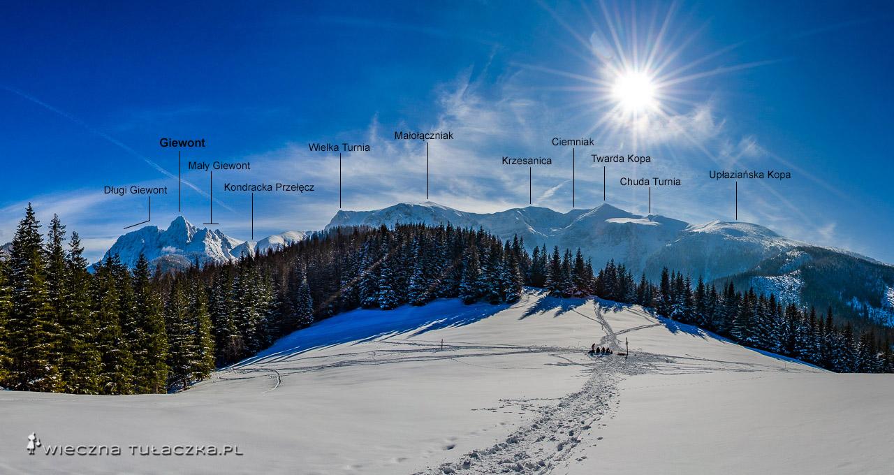 Przysłop Miętusi panorama