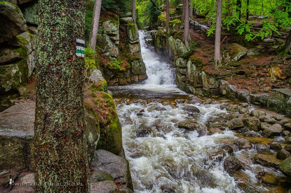 Wodospad Podgórnej w Karkonoszach