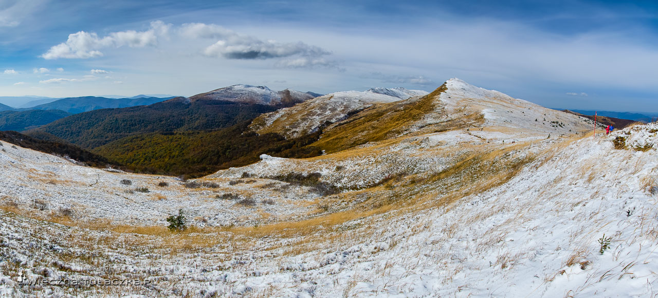 Szlak na Halicz, Bieszczady