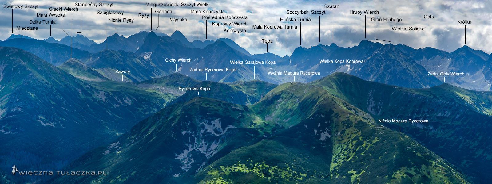Panorama Tatr z Krzesanicy
