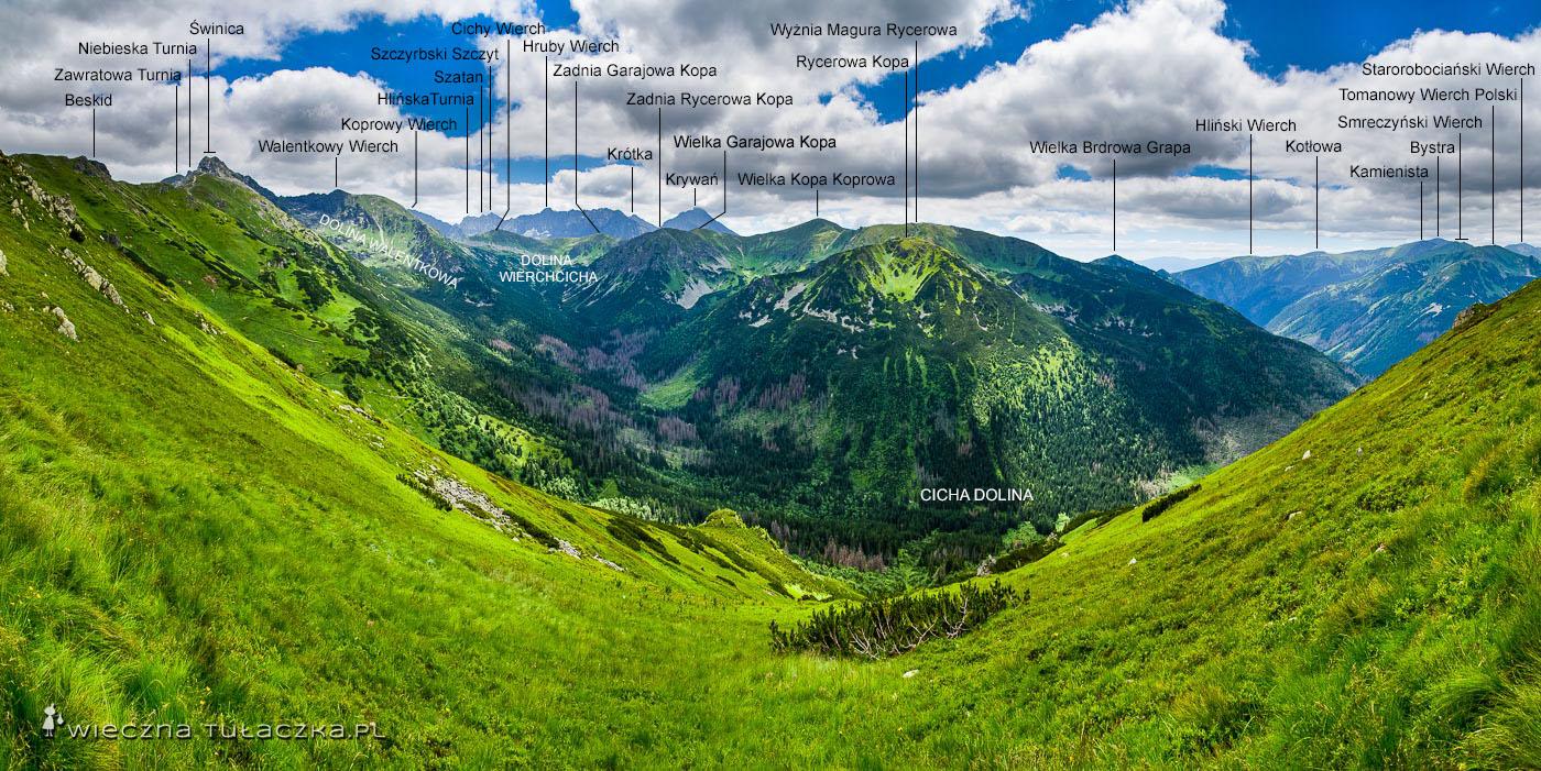 Szlak ponad Cichą Doliną