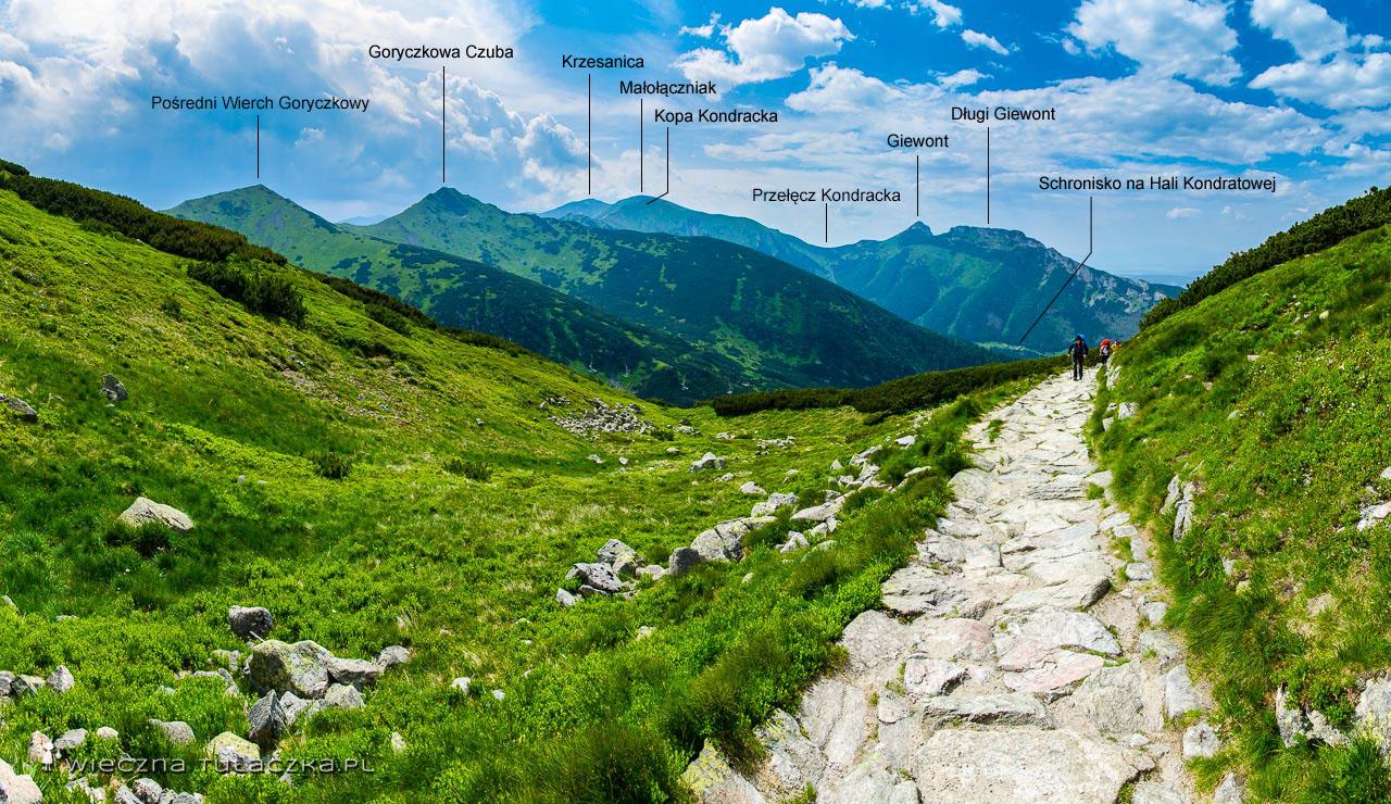 szlak na Kasprowy Wierch przez Myślenickie Turnie