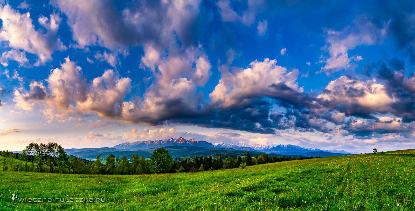 Łapszanka, punkt widokowy na Tatry