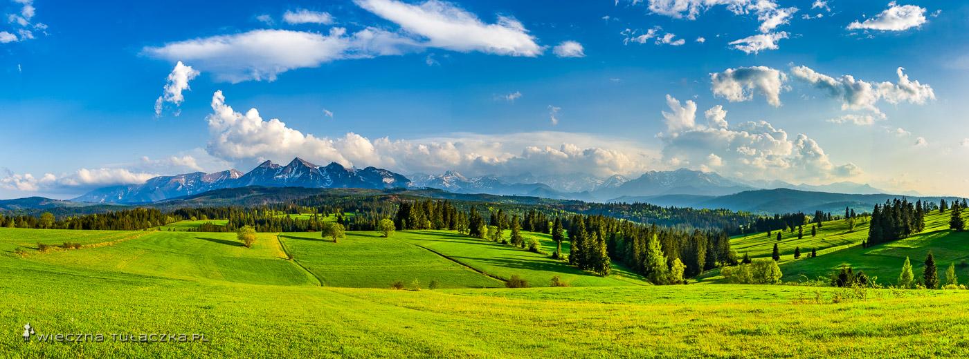 Panorama z Przełęczy nad Łapszanką