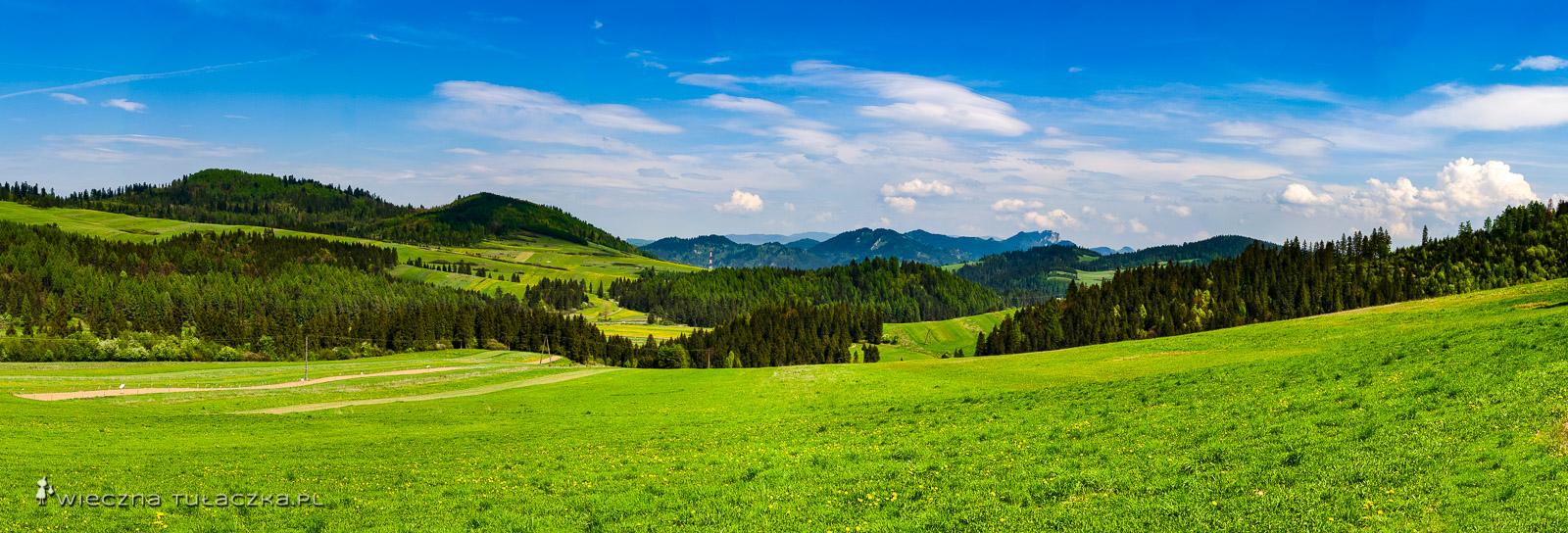 Pieniny ze szlaku z Kacwina do Łapsz Niżnych