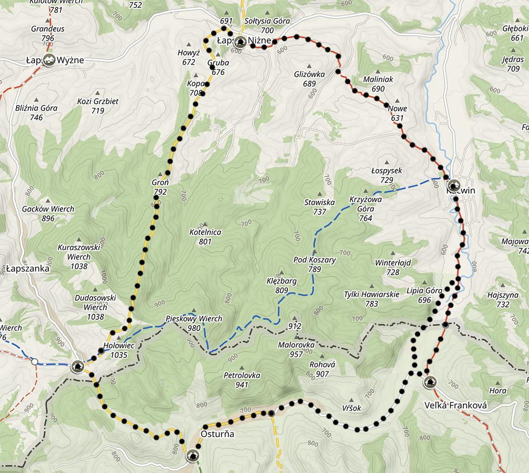 Szlaki na Spiszu, szlak na Słowację