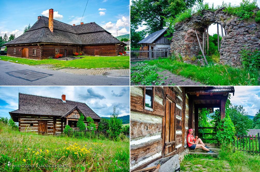 Zabytkowe drewniane chaty